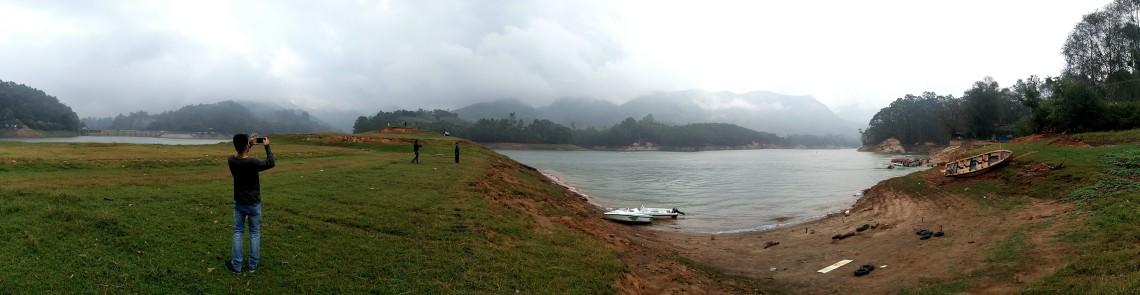 A panoramic view of the beautiful Kodai lake.